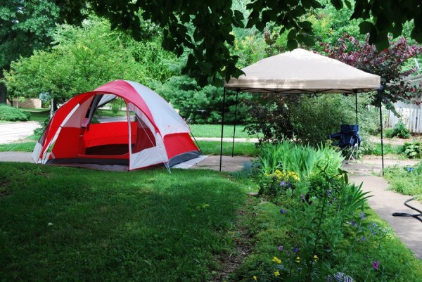 Photograph of a Coleman Sunlight Ridge Tent and Gazebo