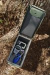A .50 caliber ammo box makes an excellent camera dry box
