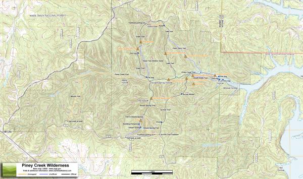 Piney Creek Wilderness Trail Map