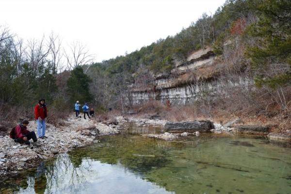 MDC Hercules Glades Wilderness Hike - Bluff on Long Creek