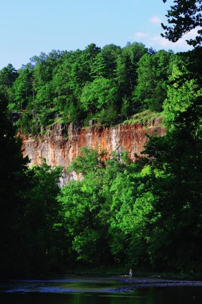 Red Bluff on Huzzah Creek, Davisville, Missouri
