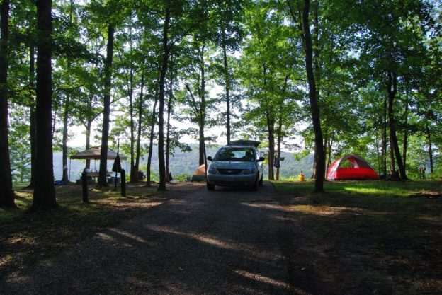picture of campsite no 45 at red Bluff Campground, Davisville, Missouri