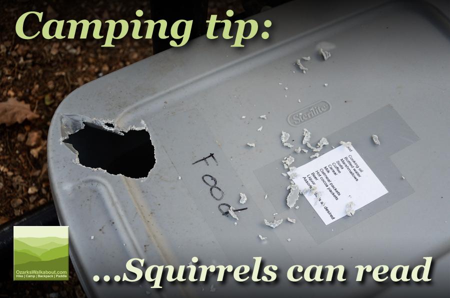 Camping tip: