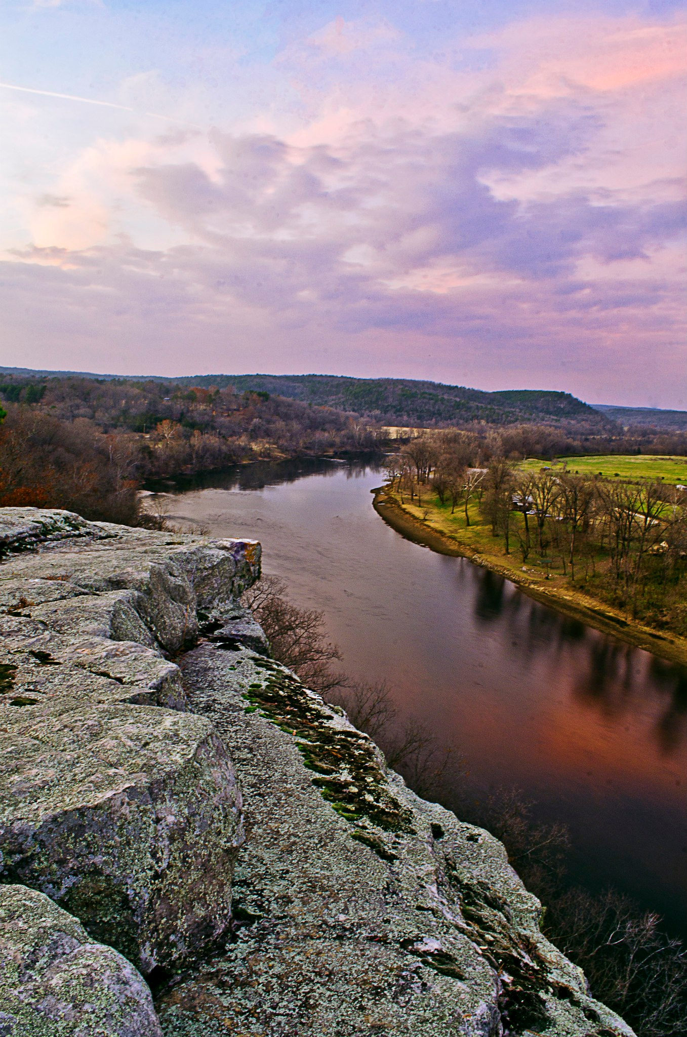 City Rock Bluff overlooking the White River
