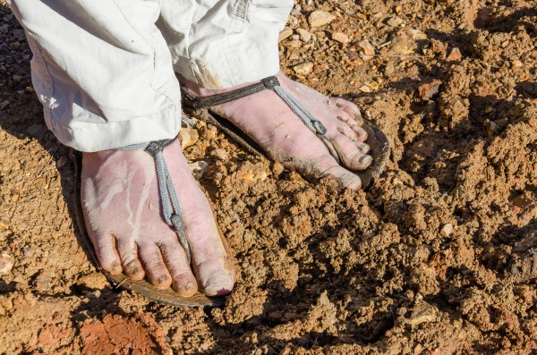 The trail was quite muddy in places   Photograph by Ginger